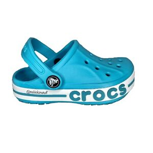 Crocs Bayaband Clog K Aqua Teal White 205100-4SL Size C9 Brand New With Tags