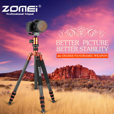 ZOMEI heavy-duty Carbon Fiber Tripod Portable Monopod Ball Head for DSLR Camera