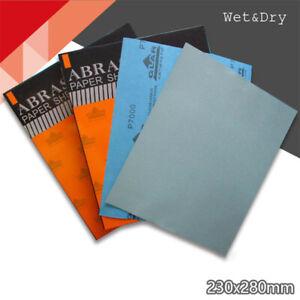 Schleifpapier Set 3000-5000 Körnung  Nass Trocken Sandpapier Blätter 230 x 280mm