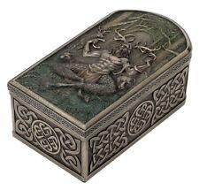 "6"" Cernunnos Celtic Pattern Trinket Box Gaulish Celts Jewelry Box"