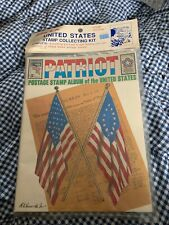 Unopened Vintage Postage Stamps USA Stamp Collecting Kit Patriot Album-Stamps