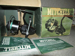 Mitchell 300A  Fishing Reel with Box - Made in France ( Looks unused )