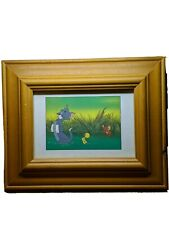 Tom And Jerry Rare Wooden Framed Photo Vintage Cartoon Collector Piece Retro