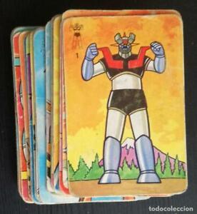 Baraja infantil Mazinger Z - Pipas Tostadero Jem; año 1978: Lote de 35 cartas