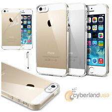 Ultra Thin Transparent Crystal Clear Hard TPU Case Cover for iPhone SE / 5 / 5S