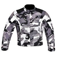 Men's Motorcycle Motorbike Jacket Waterproof Cordura CE Armoured Camouflage