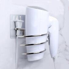 Stainless Steel Hair Dryer Holder Rack Wall Mounted Bathroom Storage Shelf