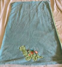 Taggies Baby Boy Plush Blue Green Dinosaur Tag Crib Blanket 30 x 40