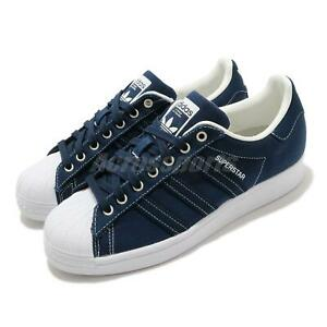 adidas Originals Superstar Navy Off White Men Unisex Classic Casual Shoes FW2652