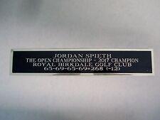 Jordan Spieth Nameplate For A 2017 The Open Golf Ball Case Or Scorecard 1.5 X 6