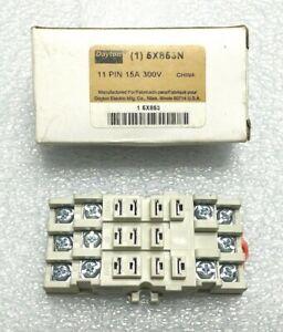 Dayton 11 Pin Relay Socket 6X863N 15 Amp, 300 Volt, NOS In Box