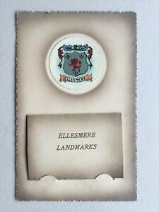 Ellesmere landmarks novelty pull-out miniature views postcard c.1920 Shropshire