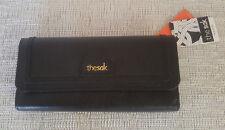 NEW The Sak IRIS Black Leather RFID FlapTrifold wallet NWT