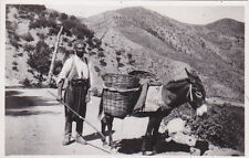 CYPRUS POSTCARD VILLAGER WITH DONKEY EARLY PHOTOGRAPHIC