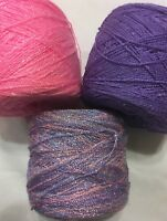 Lace yarn Crystal Colors 118/138/1552 Acrylic/Rayon.900 yds per ball.1 set of 3.