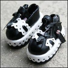 [wamami] 1/6 Black & White LUTS BJD AOD Dollfie Leather Outfit/Shoes ~ 4.5cm