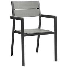 Modway Maine Dining Outdoor Patio Armchair - Brown Gray