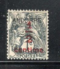 FRANCE   FRENCH COLONIES ANDORRE RED OVERPRINT STAMPS MINT HINGED LOT 23620