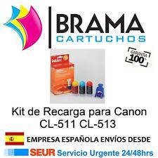 KIT DE RECARGA CL511 CL513 5 a 7 Recargas MP240 MP245 MP250 MP258 Mp260 Mp270
