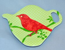 "Robin Bird  TeaBag Holder Ashdene of Australia Melamine NIB Tea 4"" x 3"""