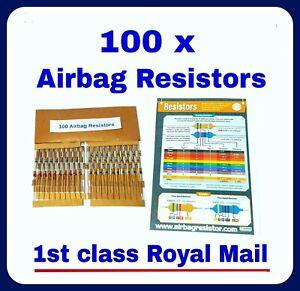 100 x AIRBAG BYPASS RESISTORS mixed all makes pack SRS MOT FAULT LIGHT
