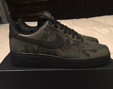 """New Men's Nike Air Force 1 '07 LV8 """"Reflective Camo"""", Medium Olive, Size 8"""