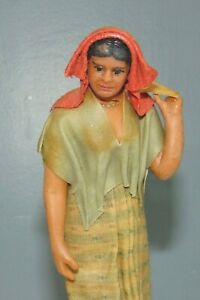 ANTIQUE VARGAS Wax Doll WOMAN Needs TLC New Orleans