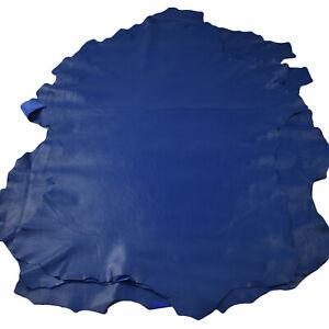 Royale Blue sheepskin hides 5 - 10 sq ft - Soft lambskin garment leather   NAPPA