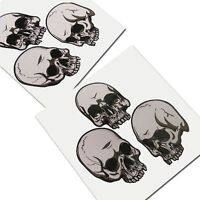 SKULL  graphics stickers decals x 2 pieces STYLE #002 Gothic Biker Death