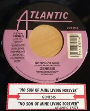 Genesis 45 No Son Of Mine / Living Forever  w/ts  EX-NM