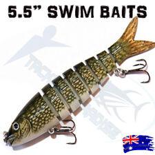"5.5"" Swimbait Fishing Lure Jointed Sinking Swim Stick Bait Jewfish Cod Tackle 2"
