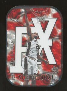 1999-00 Skybox E-X E-ceptional Tim Duncan San Antonio Spurs