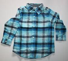 NUOVO GYMBOREE stile Smarts blu scozzese Camicia di flanella TOP TAGLIA 3T