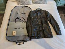 Belstaff Black Prince Label Mens Jacket/Coat Sz L Large w/ Bag,Hanger,Cover,Belt