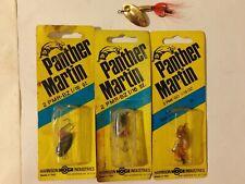 4 panther martin spinner bait fishing lures