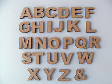 Set (or choose your own) of 30mm Wooden MDF Alphabet letters blank craft shapes