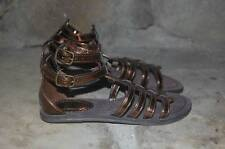 New GAP Kids Gladiator Sandals Girl's 12 Metallic Bronze Ankle Strap Egyptian