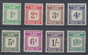BRITISH SOLOMON IS 1940 POSTAGE DUES MINT SET (x8) (ID:239/D61042)