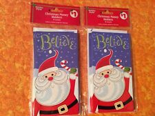 Santa Believe 6 Christmas Money/Gift Card Holders by Holiday Style