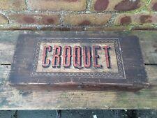 Vintage Boxed Indoor table Croquet Set