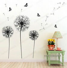 Huge Dandelion Butterfly Flower Wall Stickers Art Decal Home Vinyl Decor