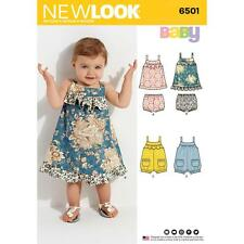 NEW LOOK SEWING PATTERN MISSES' Babies' Dress & Romper SIZE NB - LARGE 6501