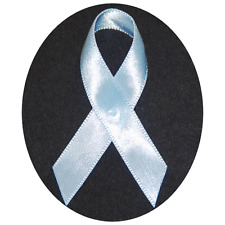 Light Blue Prostate Cancer Awareness Ribbons - 250 Ribbons with Safety Pins