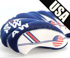 10 Golf Club Iron HeadCovers US USA Flag / Mizuno, PING, NIKE, TaylorMade, COBRA