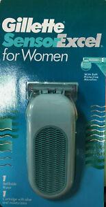 New Gillette Sensor Excel Shaver 4 Women RAZOR +1 cartridge authentic woman