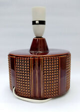 Poole England, Retro ceramic 70s style brown dimpled patterned table lamp