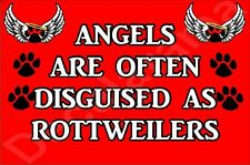 ANGELS ARE OFTEN DISGUISED AS ROTTWEILERS Dog Novelty Fridge Magnet Ideal Gift