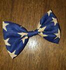 BOYS! Americana Patriotic Stars Navy Tan Bowtie Bow Tie Clip-on USA