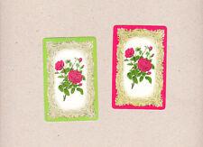 Pr Vintage SwapTrading Cards Lg Red Roses Blank Back Woolworths Coles