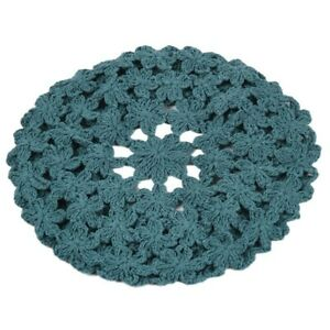 Women Crochet Beret Cap Hollow Out Sweet Floral Weave Slouchy Summer Painter Hat